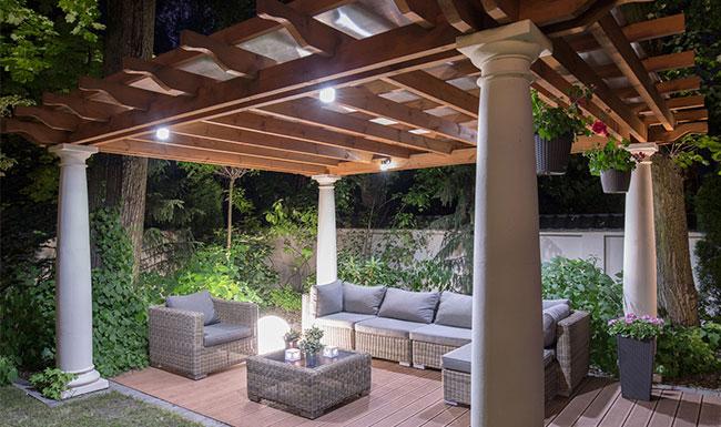 Chill out con cubierta para terraza